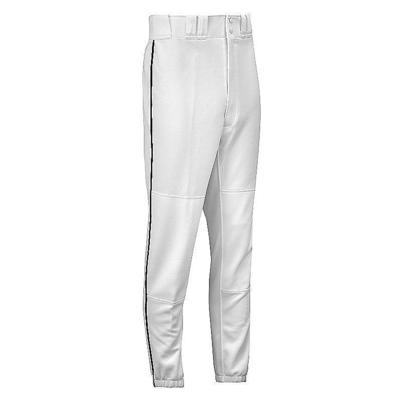 Mizuno Youth Select Piped Pant - White-Black - HIT A Double