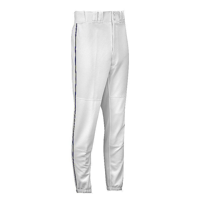 Mizuno Youth Select Piped Pant - White-Royal - HIT A Double