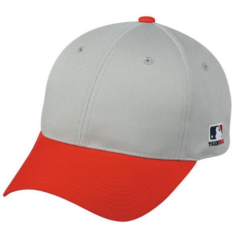 OC Sports MLB-801 Adjustable Cap - Light Grey Red