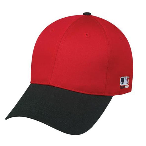 OC Sports MLB-801 Adjustable Cap - Red Black