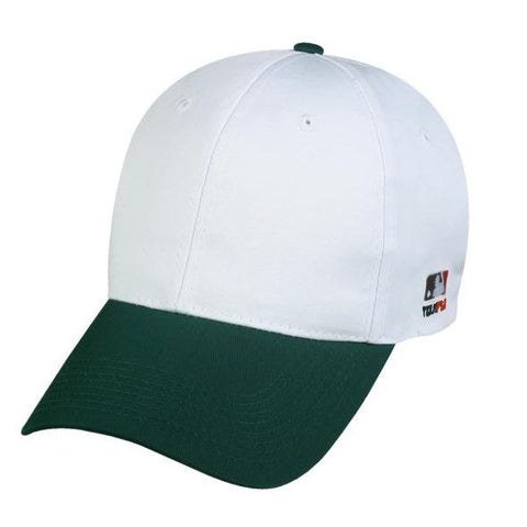 OC Sports MLB-801 Adjustable Cap - White Dark Green