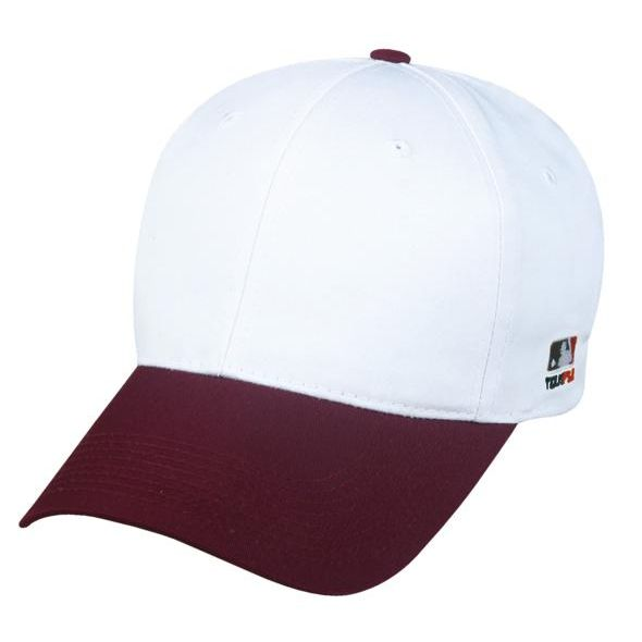 OC Sports MLB-801 Adjustable Cap - White Maroon