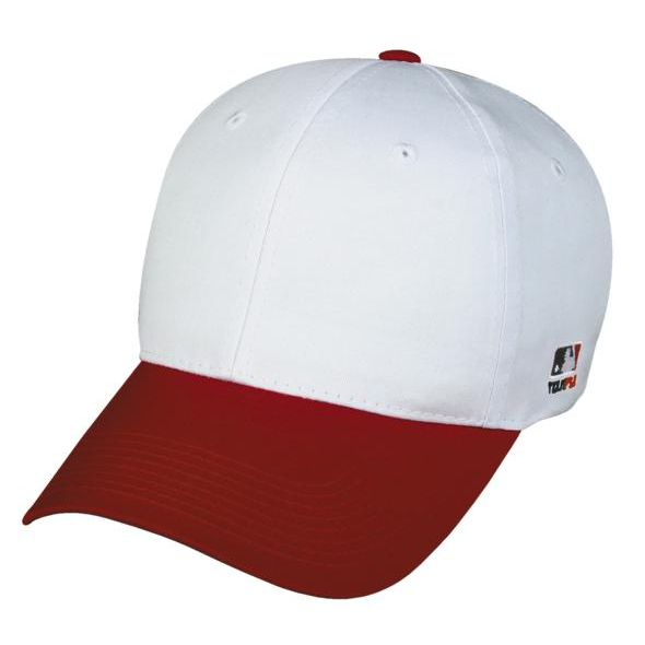 OC Sports MLB-801 Adjustable Cap - White Red