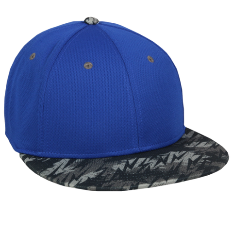 OC Sports MWS1425S ProTech Mesh Flexfit Ball Cap - Royal Storm