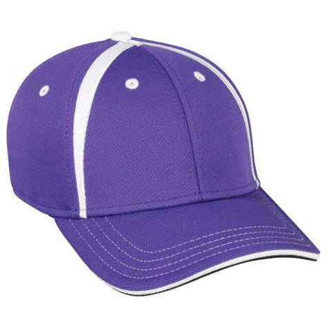 OC Sports MWS1465I Proflex ProTech Q3 Fabric Cap - Purple White