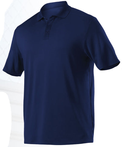 Alleson GPL5 Adult Gameday Polo - Navy - Band, Bowling, Fanwear, Golf - Hit A Double