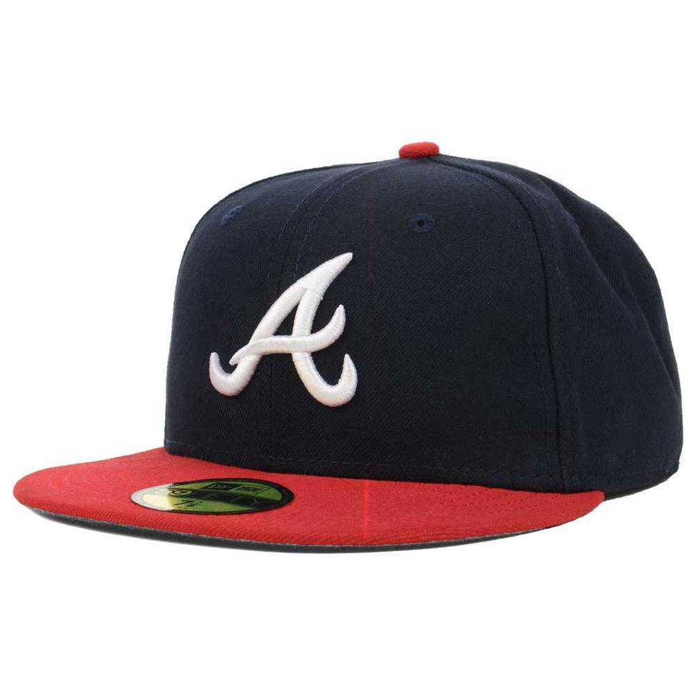 New Era MLB Authentic Cap Atlanta Braves On-Field Game Navy Red