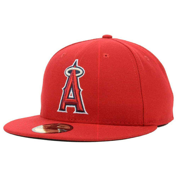 New Era MLB Authentic Cap Los Angeles Angels On-Field Game Red - HIT A Double