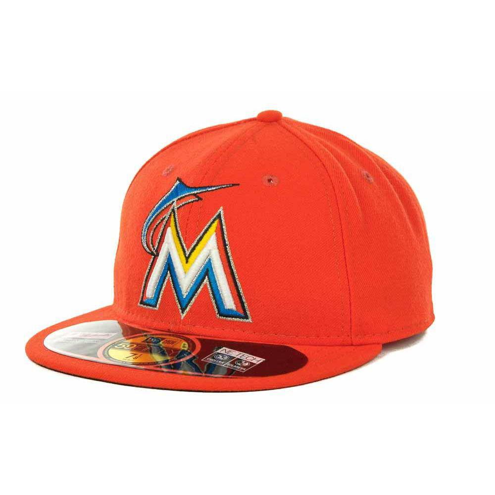 New Era MLB Authentic Cap Miami Marlins On-Field Road Orange