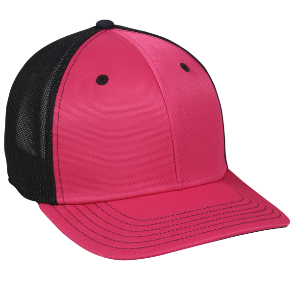 OC Sports CT120M Extra-flexible Slight Pre-curved Visor - Fuchsia Black