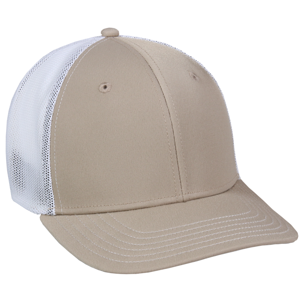 OC Sports CT120M Extra-flexible Slight Pre-curved Visor - Khaki White