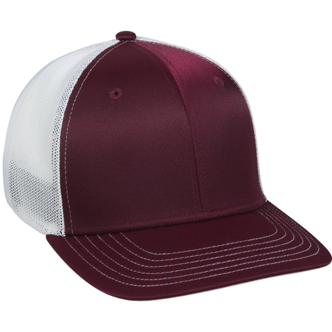 OC Sports CT120M Extra-flexible Slight Pre-curved Visor - Maroon White