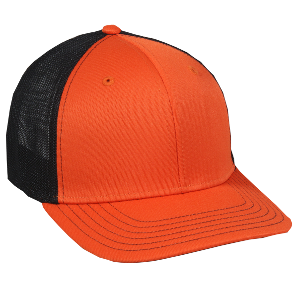 OC Sports CT120M Extra-flexible Slight Pre-curved Visor - Orange Black