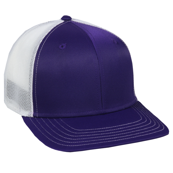 OC Sports CT120M Extra-flexible Slight Pre-curved Visor - Purple White