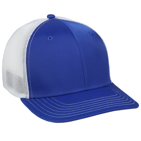 OC Sports CT120M Extra-flexible Slight Pre-curved Visor - Royal White