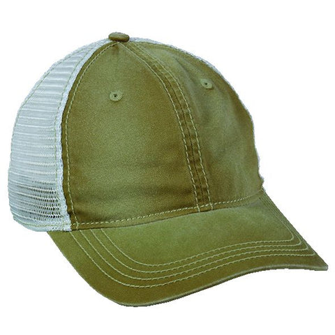 OC Sports PDT-750M Adjustable Mesh Back Cap - Khaki White