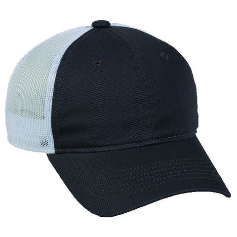 OC Sports FWT-130L Adjustable Mesh Back Cap - Charcoal White - HIT A Double