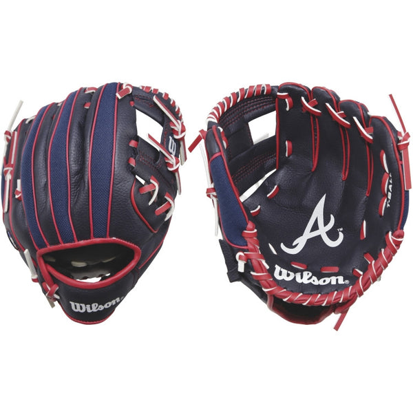 "Wilson A200 Braves 10.00"" T-Ball Glove WTA02RB16ATL"