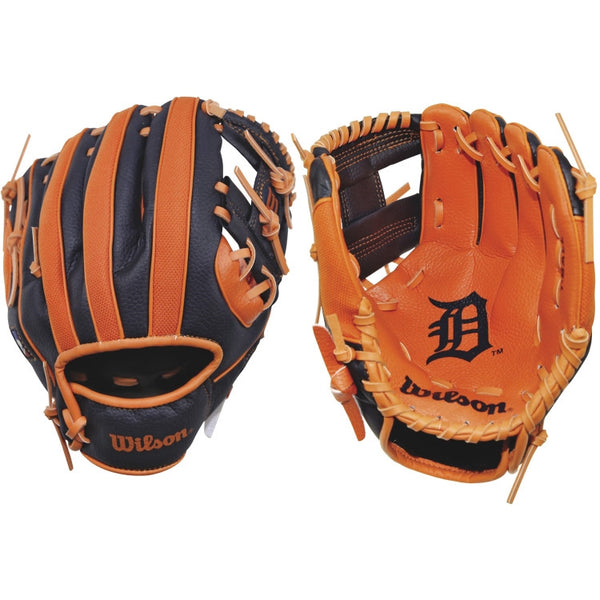 "Wilson A200 Tigers 10.00"" T-Ball Glove WTA02RB16DET"