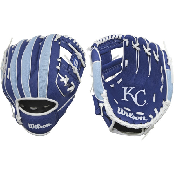 "Wilson A200 Royals 10.00"" T-Ball Glove WTA02RB16KAN - Baseball Gloves - Hit A Double - 1"