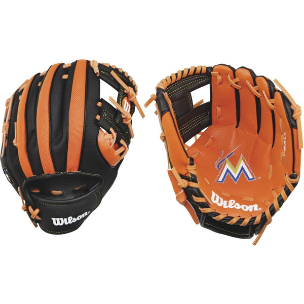 "Wilson A200 Marlins 10.00"" T-Ball Glove WTA02RB16FLA"