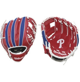 "Wilson A200 Phillies 10.00"" T-Ball Glove WTA02RB16PHI"