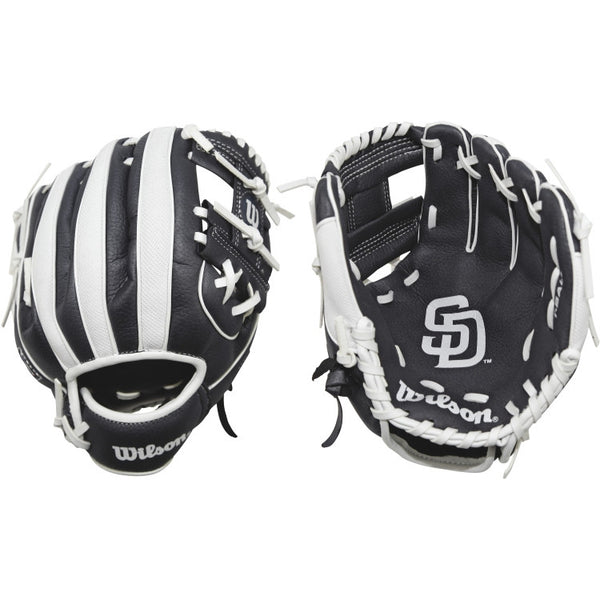 "Wilson A200 Padres 10.00"" T-Ball Glove WTA02RB16SD"