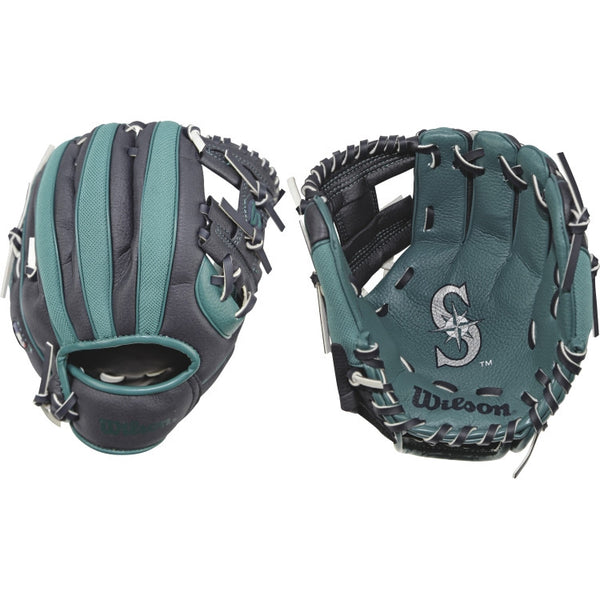 "Wilson A200 Mariners 10.00"" T-Ball Glove WTA02RB16SEA"
