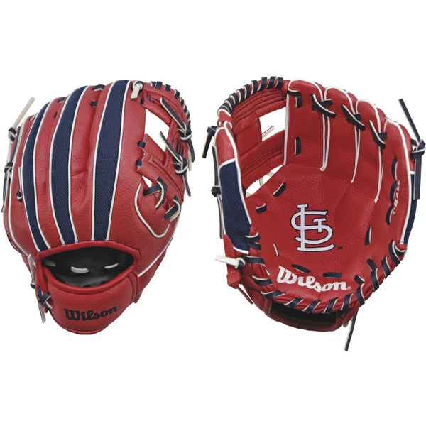 "Wilson A200 Cardinals 10.00"" T-Ball Glove WTA02RB16STL"
