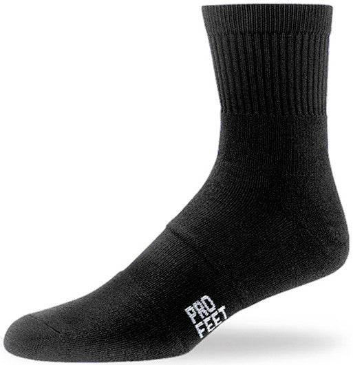 Pro Feet 284 Performance Multi-Sport Mid Crew - Black - Basketball, Baseball Apparel, Soccer, Softball Apparel, Football, Casual Wear, Training/Running - Hit A Double
