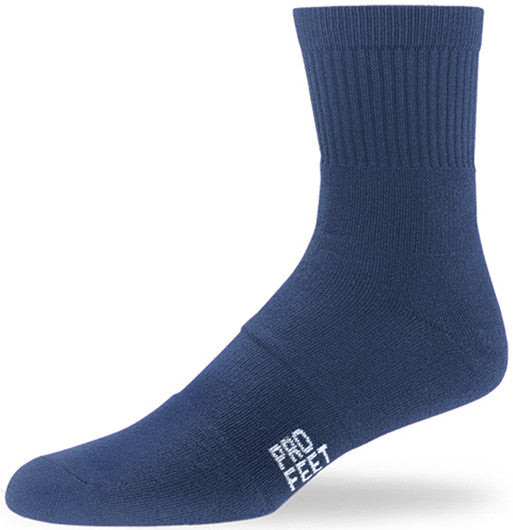Pro Feet 284 Performance Multi-Sport Mid Crew - Navy - Basketball, Baseball Apparel, Soccer, Softball Apparel, Football, Casual Wear, Training/Running - Hit A Double