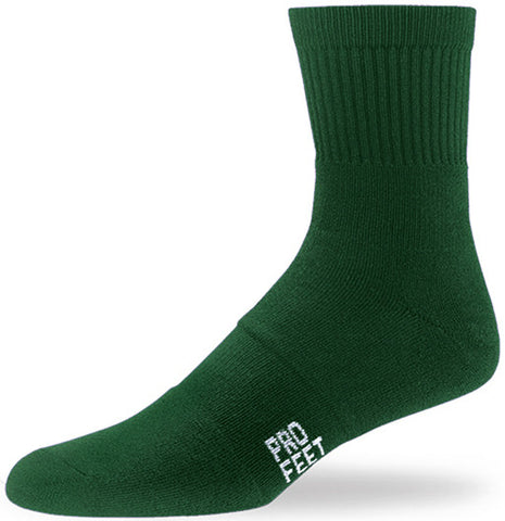 Pro Feet 284 Performance Multi-Sport Mid Crew - Dark Green - Basketball, Baseball Apparel, Soccer, Softball Apparel, Football, Casual Wear, Training/Running - Hit A Double