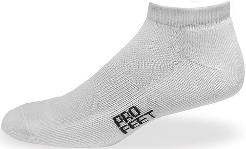 Pro Feet 283 Performance Multi-Sport Low Cut - White - Basketball, Baseball Apparel, Soccer, Softball Apparel, Football, Casual Wear - Hit A Double
