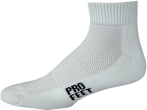 Pro Feet 286 Performance Multi-Sport Quarter - White - Basketball, Baseball Apparel, Soccer, Softball Apparel, Football, Casual Wear - Hit A Double