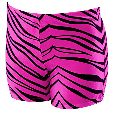 Pizzazz Animal Print Boys Cut Briefs - Hot Pink Zebra