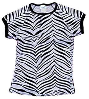 Pizzazz Animal Print Raglan Sleeve - Zebra