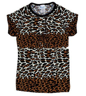 Pizzazz Animal Print Raglan Sleeve - Leopard