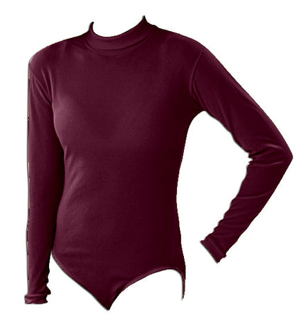 Pizzazz Body Basics Bodysuits - Maroon