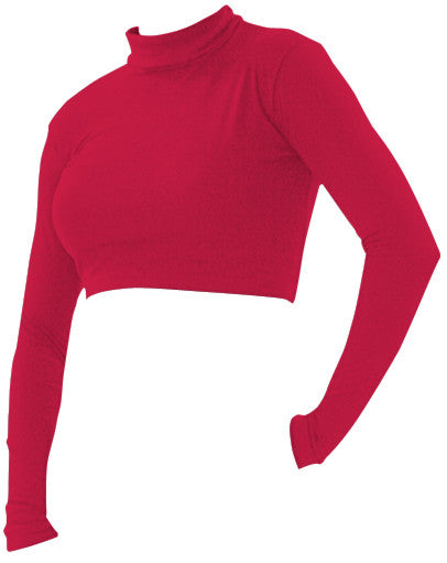 Pizzazz Body Basics Crop Tops - Red