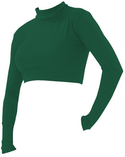 Pizzazz Body Basics Crop Tops - Forest Green