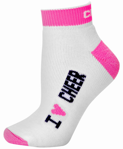 Pizzazz I Love Cheer Socks - Hot Pink
