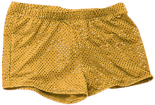 Pizzazz Sequined Boy Cut Briefs - Sequined Gold
