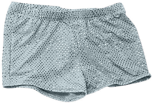 Pizzazz Sequined Boy Cut Briefs - Sequined Silver