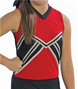 Pizzazz Spirit Uniform Shells - Red Black
