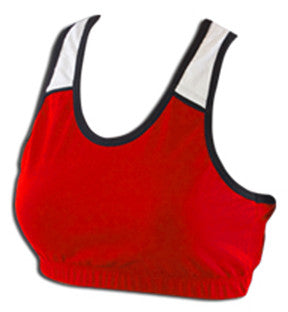 Pizzazz Tri-Colr Sports Bras - Red White Black