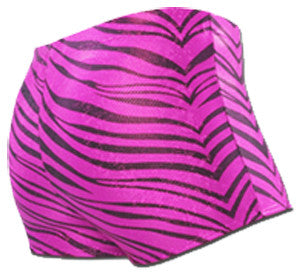 Pizzazz Zebra Glitter Boy Cut Briefs - Hot Pink