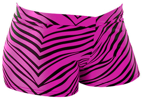Pizzazz Zebra Print Hot Shorts - Hot Pink