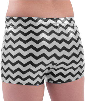 Pizzazz Chevron Metallic Boys Cut Brief - Metallic Silver