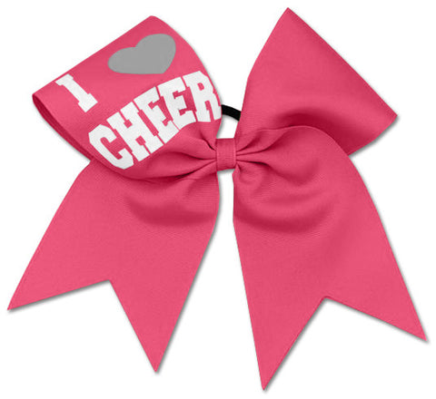 Pizzazz I Love Cheer Bow - Hot Pink