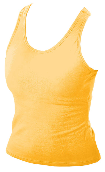 Pizzazz MVP Racer Back Top - Gold